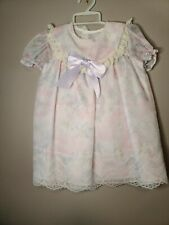 Vintage Lacy party dress 4t pastel floral mothercare