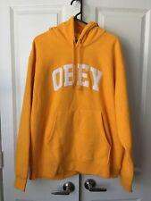 New OBEY Long Sleeve Skater Surfer Mens Designer Street Hoodie Sweatshirt Sz XL