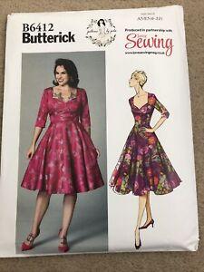 Butterick sewing pattern Dress B6412