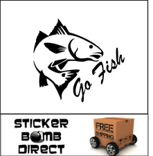 Redfish Decal Go Fish Stickers Fishing Saltwater Freshwater St Croix Fenwick Car
