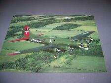 """VINTAGE..B-17 """"TEXAS RAIDERS"""" FLYING FORTRESS..1-PAGE PHOTO PAGE..RARE!..(901L)"""