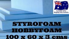 Styrofoam XPS - 100cm x 60cm x 3cm (ALL TYPES OF MODELLING FOAM) HOBBY FOAM