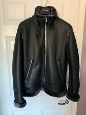 Lambs Wool Leather Aviator Jacket Very Warm