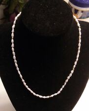 "Fresh Water Pearls With 14K Gold Beads & Clasp Necklace, 16"" long ((365))"