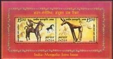 INDIA 2006 MONGOLIA SETENANT JOINT ISSUE STAMP Miniature Sheet MNH CAT Rs 150/-