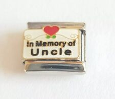 In Memory of Uncle Italian Charm Bracelet Charms Link