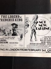 M3-1 Ephemera 1974 Advert The Legend Of Fenchie King Not Now Darling