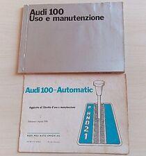 AUDI 100 USO E MANUTENZIONE S LS 2 4 PORTE 1970 CAMBIO AUTOMATICO NSU AUTO UNION