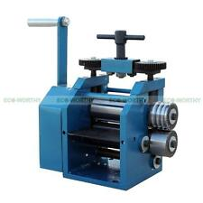 """Manual 4"""" (130mm) Maunal Roll Rolling Mill for Gold Silver Jewelry Design Making"""