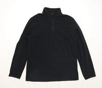 Mountain Warehouse Mens Size L Black Half Zip Fleece Jacket