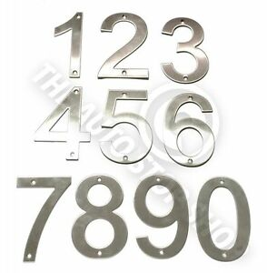 Stainless Steel House Numbers - No 30 - SCREW on house / Door / Building 10cm