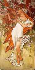 Alphonse Maria Mucha Spring Panel A3 Box Canvas