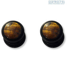 2 pezzi Tiger Eye Gemstone BLACK Fakeplug-Fake piercing Stone Plug - 2 pieces