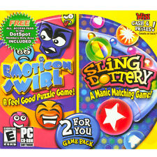 Video Game PC Emoticon Swirl & Slingdottery  (PC, 2006) 2 for You! NEW