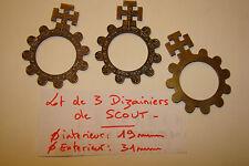 lot de 3 dizainier de SCOUT dizaine finition bronze priere scoutisme croix