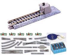 KATO 20-046 N.2 BINARI MORTI JUMPER MM.62 con CEMENTO e FINTO SEMAFORO SCALA-N