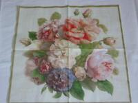 4 Stück Servietten FAIRY Rosen  roses rose Serviettentechnik ganzes Motiv Blumen