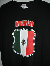 NEW black tshirt MEXICO XL xlarge mens misses short sleeve t-shirt
