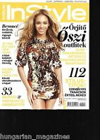 InStyle Ungarn / Hungary Hungarian Magazine 2011/11 - Beyonce Knowles - Cover