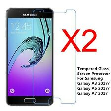 2x 9H Tempered Glass Film Screen Protector For Samsung Galaxy A3 A5 A7 2016/2017