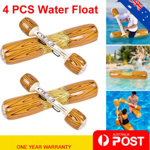2PCS Inflatable Pool Float Toy Swimming Pool Party Raft Bumper Kids Toy Gift AU