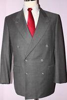 Ermenegildo Zegna Gray Solid Wool Side Vented Suit 41 Regular 33 28 Pants 41R
