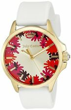 NWT Juicy Couture Jetsetter White Silicone Strap Watch 38mm LIMITTED EDITION!