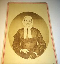 Antique Victorian American Old Woman, Lovely Fashion Gloves! Fulton NY CDV Photo