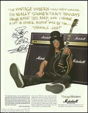 Guns N' Roses Slash Marshall Vintage Modern Guitar Amps ad 8 x 11 advertisement