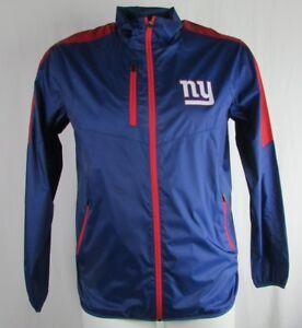 New York Giants NFL Men's Full-Zip Lightweight Windbreaker