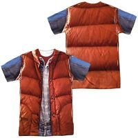 Back to the Future Movie Marty McFly Vest Costume Outfit Uniform Allover T-shirt