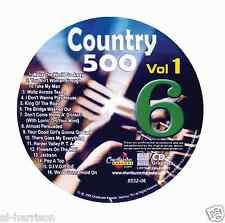 KARAOKE CHARTBUSTER CD+G COUNTRY 500 CB8532 VOL.1 DISC # 6