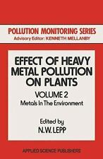 Effect of Heavy Metal Pollution on Plants : Metals in the Environment-ExLibrary