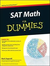 SAT MATH BOOK TIPS EASY Dummies Series IMPROVE SCORES HELP NEW USA FREE SHIPPING