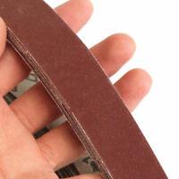 10tlg 400 korn Grit 760 x 25mm Schleifbänder Schleifband Gewebebänder Sandpapier