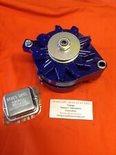 1965-85 FORD MUSTANG 100 AMP HIGH PERFORMANCE ALTERNATOR POWDERCOATED FORD BLUE