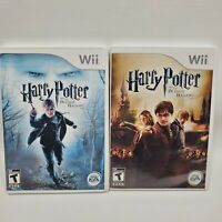 Harry Potter and the Deathly Hallows: Part 1 & 2 NINTENDO WII SET COMPLETE