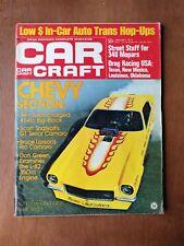 Car Craft January 1973 Bruce Larson Camaro - Bill Jenkins - Corvette  Chevy L-82