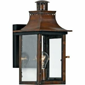 Quoizel CM8408AC 1-Light Chalmers Outdoor Lantern in Aged Copper