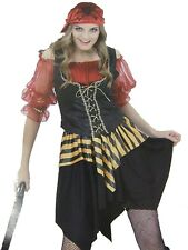 Pirate Wench / Buccaneer Ladies 4 Pce Fancy Dress Costume One Size  New & Sealed