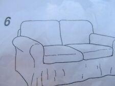 Ikea Ektorp SofaBezug 2er Sofa altes Model Fresvik grün Jaquardmuster edel neu