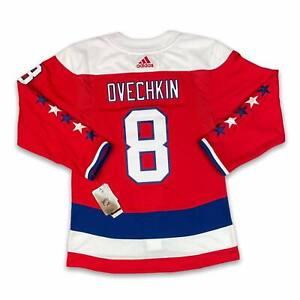 adidas Washington Capitals Alex Ovechkin #8 Authentic Pro Alternate Jersey sz 42
