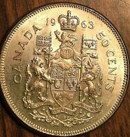 1963 CANADA SILVER 50 CENTS COIN