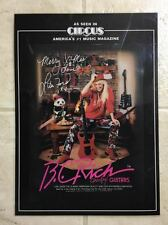 """B. C. RICH """"RARE"""" LITA FORD 14x10 LAMINATED PROMO POSTER, 25+ YEARS OLD"""