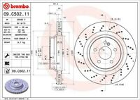 Disc Brake Rotor-Premium UV Coated OE Equivalent Rotor Rear Brembo 09.C502.11