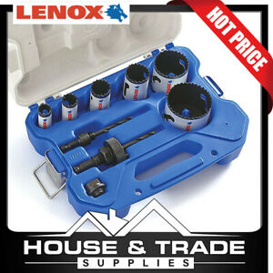 Lenox Tools Hole Saw Kit 9 Piece Electricians Speed Slot 30856C600L