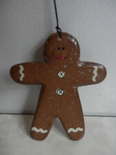 Christmas Holiday Lightweight Wood Gingerbread on Hook Tree Ornament Decoration