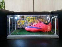 Fußballschuh, Sancho signiert, inkl. Beleuchtung, BVB, Borussia Dortmund Fußball