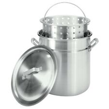 Bayou Classic 4042 42-Quart All-Purpose Aluminum Stockpot with Steam and Boil Ba