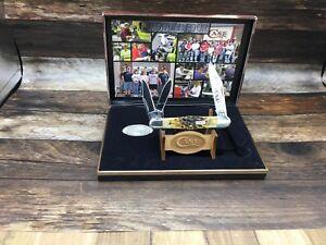 "2004 Case ""USA Handmade"" Whittler Commerative Set Jigged Bone Mint Display SN115"